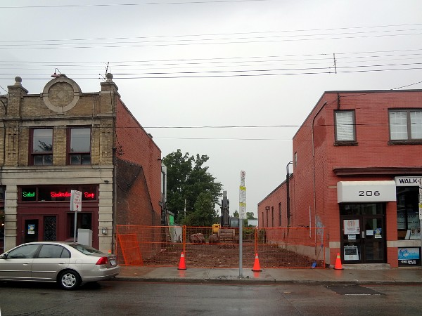 Demolished building at 210 Locke Street South