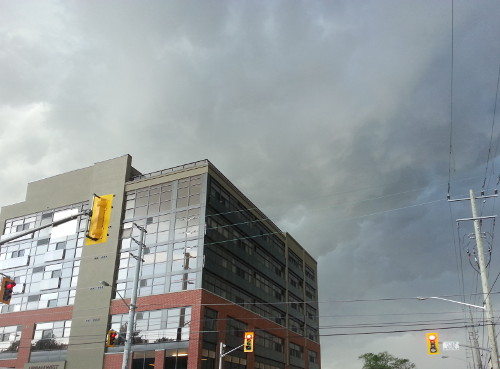 Dark clouds looming over 417 Aberdeen Avenue.