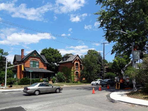 Earlier this summer, city workers installed poles and lights at the corner of Aberdeen and Kent (RTH file photo)
