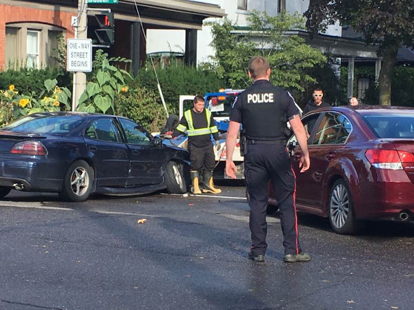 Collision at Aberdeen and Queen on September 19, 2017 (Image Credit: Maureen Wilson)