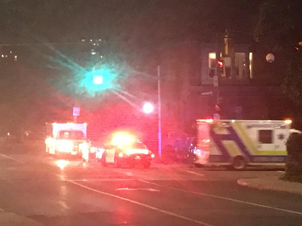 Serious collision at Aberdeen and Queen on October 11, 2017 (Image Credit: Terry Cooke)