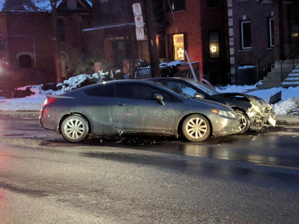 Two-car sideswipe on Aberdeen on December 13, 2017