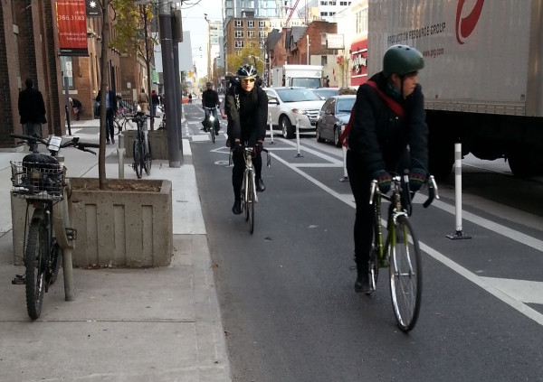 Adelaide Cycle Track (Image Credit: Biking Toronto)