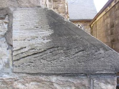 Figure 8: Detail of a buttress, showing cross-bedding in the Whirlpool sandstone cap