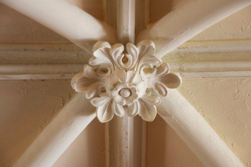 Auchmar, Hamilton, plaster ceiling boss in main foyer