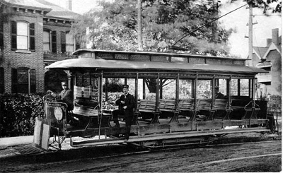 An early streetcar on Barton St. (Photo Credit: Postcards of Hamilton)