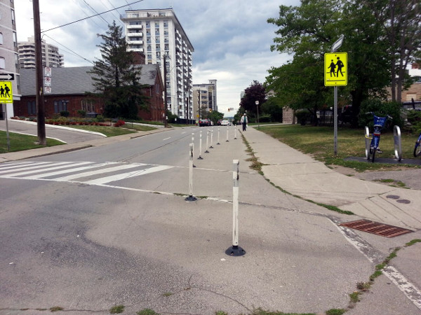 A couple of bollards north of Bay would also have to be moved