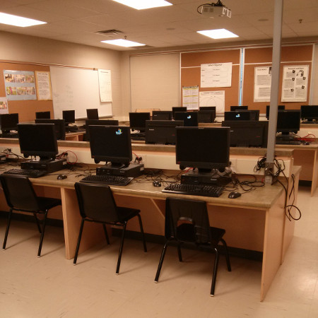 The computer room on the second floor of the Beasley Community Centre. Former Dr. Davey Principal Leah Schwenger envisioned this for community use after-hours (Photograph by Sylvia Nickerson)