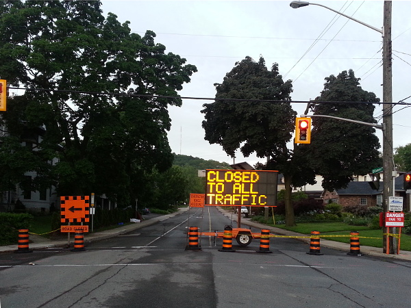 Queen Street south of Aberdeen is closed for the summer
