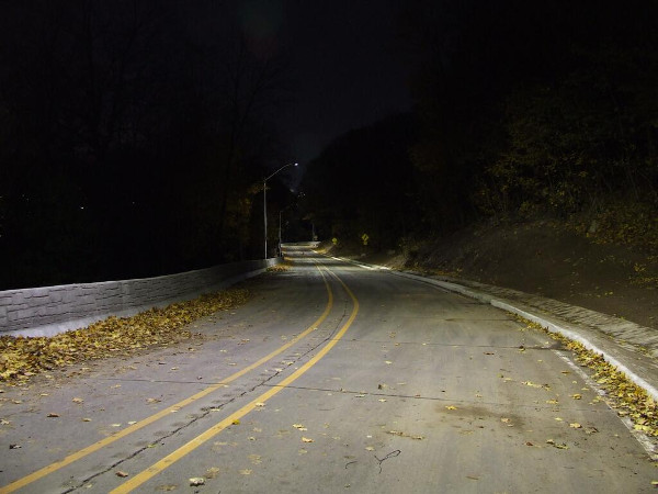 Beckett Drive at night