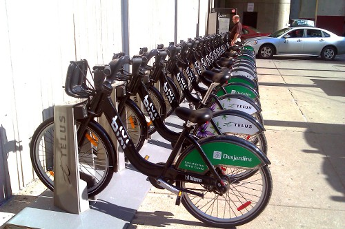 Bixi station in downtown Toronto (RTH file photo)