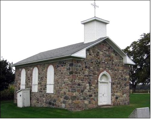 Figure 6. A small Catholic church, built south of Shakespeare in 1863 by German immigrants from Alsfeld, east of the Palatinate (Johnston and Johnston, 1967, p.145).