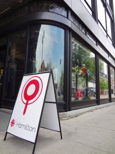 CBC Hamilton office on James Street North (RTH file photo)