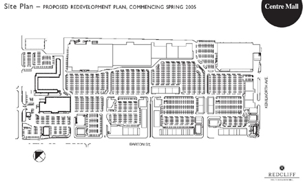 Possible site plan for Centre Mall renovation (click on the image to see a larger version) Source: Sky Scraper Page