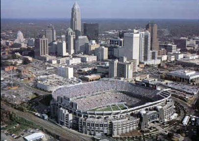Charlotte located its foodball stadium downtown