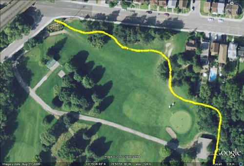 Possible trail route through Chedoke Golf Course