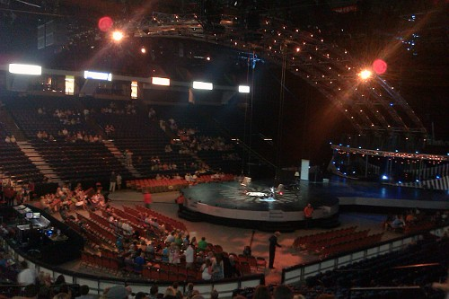 The Quidam stage before the show
