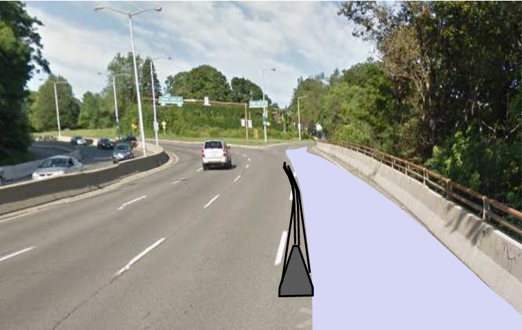 Claremont Cycle Track, initial design concept (City of Hamilton)