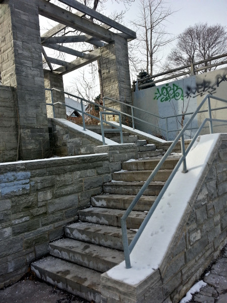 Stairs into Southam Park
