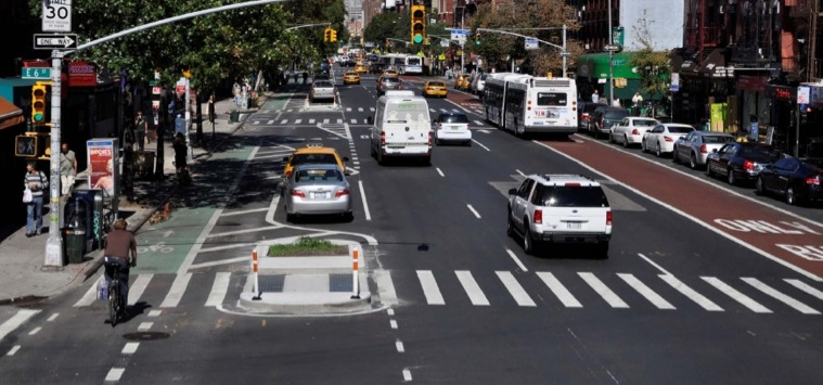 Complete one-way street in New York City (Image Credit: The Source)