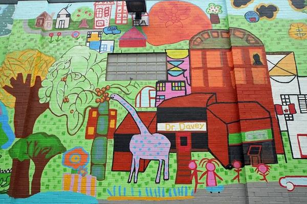 Beasley Neighbourhood wall mural