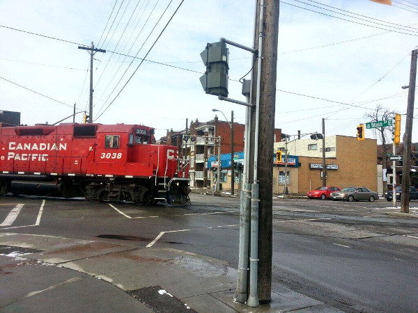 CP engine crossing Main and Gage