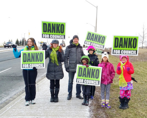 Danko family campaigning