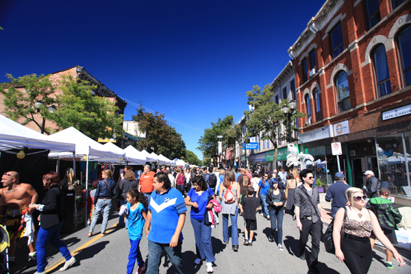 James Street North filled with people enjoying Supercrawl on Saturday September 14, 2013