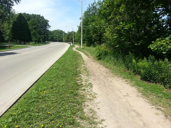 Desire path on Scenic Drive (RTH file photo)