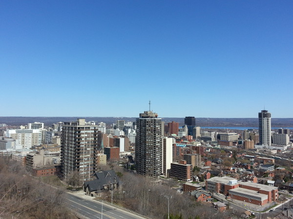 Downtown Hamilton, view from Sam Lawrence Park