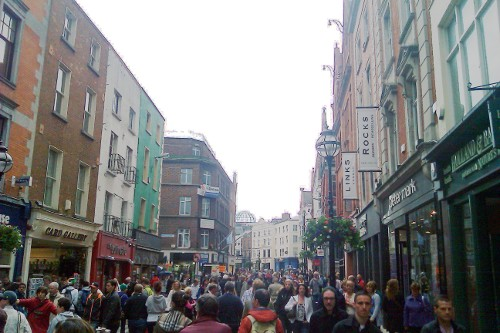 Pedestrian-only Grafton Street is a major destination for shoppers and browsers