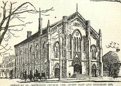 Fig. 3. Toronto, Berkeley Street Methodist Church, from John Ross Robertson, Landmarks of Toronto.