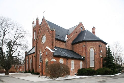 Fig. 2. Dundas, St Augustine's Roman Catholic Church, exterior from NW.