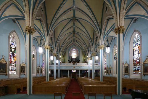Fig. 4. Dundas, St Augustine's Roman Catholic Church, interior to E.