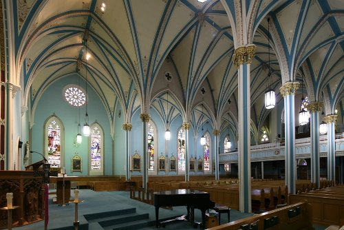 Fig. 6. Dundas, St Augustine's Roman Catholic Church, interior from S transept.