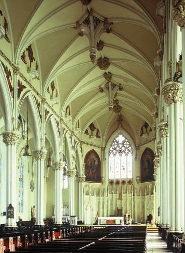 Fig. 9. Kingston, St Mary's Roman Catholic Cathedral, interior to E