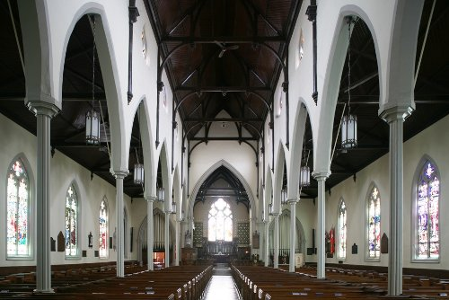 Fig. 10. Brantford, Grace Anglican Church, interior to E, William Hay, 1856.