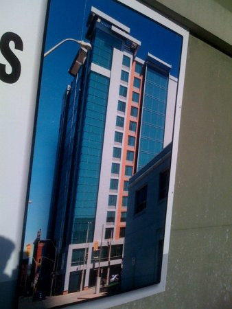 Poster for the proposed Element Hotel at Main and Walnut