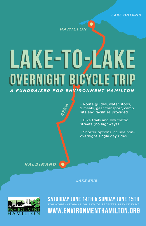 Poster for Lake-to-Lake Overnight Bicycle Trip