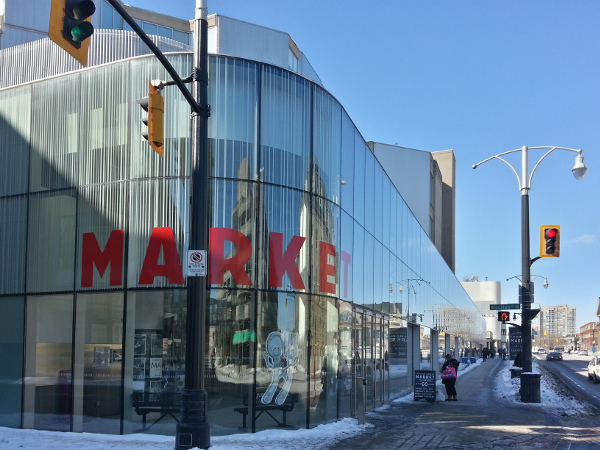 Farmers' Market entrance, York and MacNab