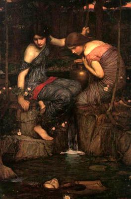 John William Waterhouse: Nymphs Finding the Head of Orpheus - 1905