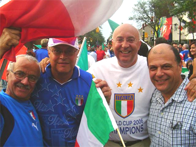 Larry Di Ianni celebrates Italy's World Cup win