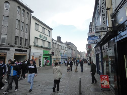 Even on a Monday, Shop Street is pretty lively