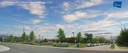 General Hospital Parking Lot Rendering