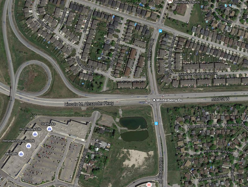 Winterberry Drive and Mud Street (Image Credit: Google Maps)