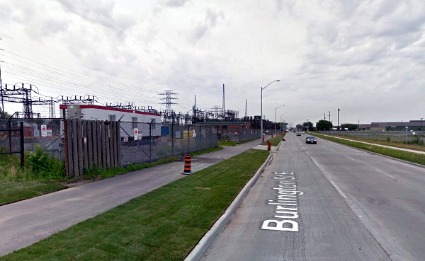 Multi-use path on Burlington Street between Gage and Ottawa (Image Credit: Google Streetview)