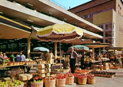 Hamilton Market in the 1960s (Photo Credit: Postcards of Hamilton http://postcardsofhamilton.com/)