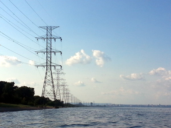 Hydro towers along Hamilton waterfront (RTH file photo)