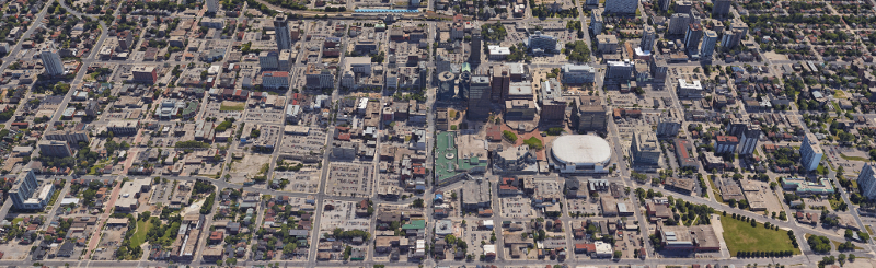 Huge infill development potential in downtown Hamilton (Image Credit: Google Earth)