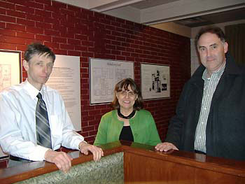 (L to R) Harry Stinson, Judy Marsales, and Rick Nizielski